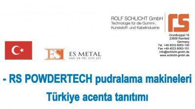ROLF SCHLICHT GmbH – RS POWDERTECH powder coating machines Introduction of our agent in Turkey
