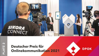 SIKORA wins silver place at the German Award for Online Communication 2021